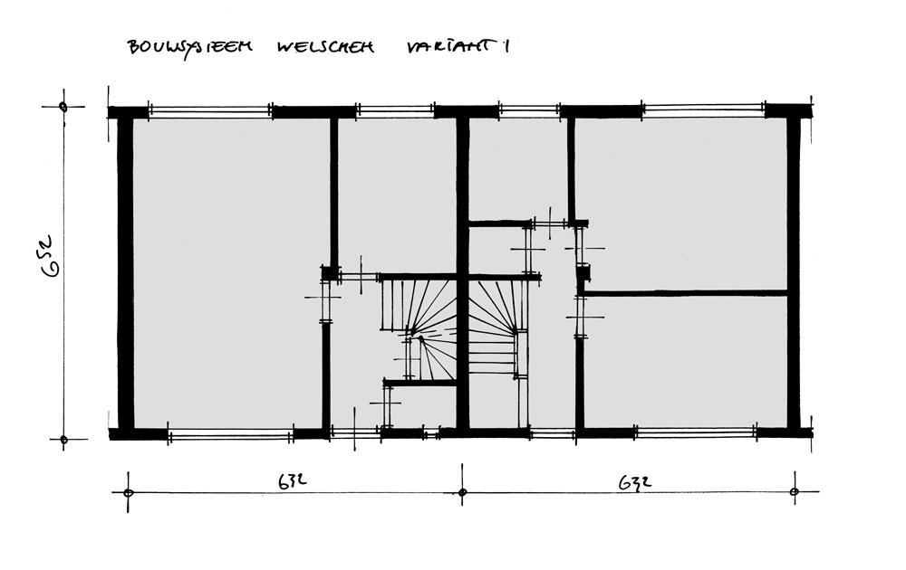 Bouwhulpgroep Systeemwoningen bouwsysteem Welschen - plattegrond v1