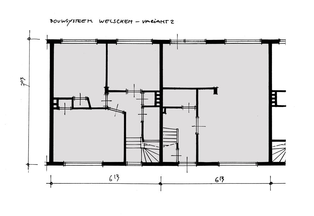 Bouwhulpgroep Systeemwoningen bouwsysteem Welschen - plattegrond v2