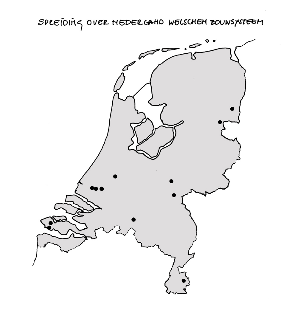 Bouwhulpgroep Systeemwoningen - spreiding NL Welschen