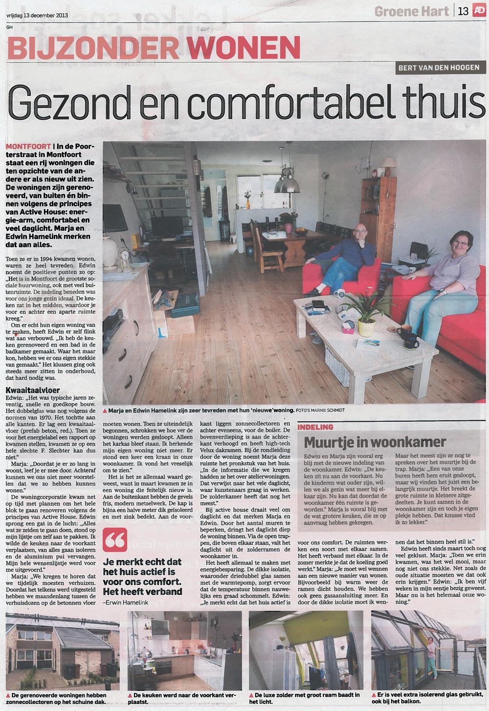 Art. AD Groene Hart - Gezond en comfortabel thuis
